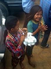 Khmer children on the ferry