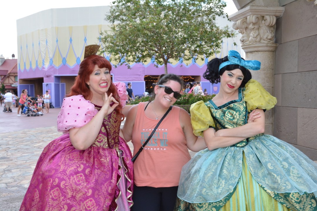 Anastasia and Drizella in Fantasyland at Magic Kingom in Walt Disney World