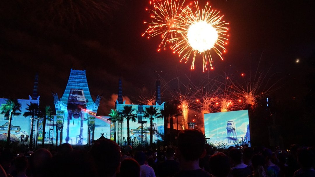 The Star Wars fireworks show at Disney's Hollywood Studios in Orlando.