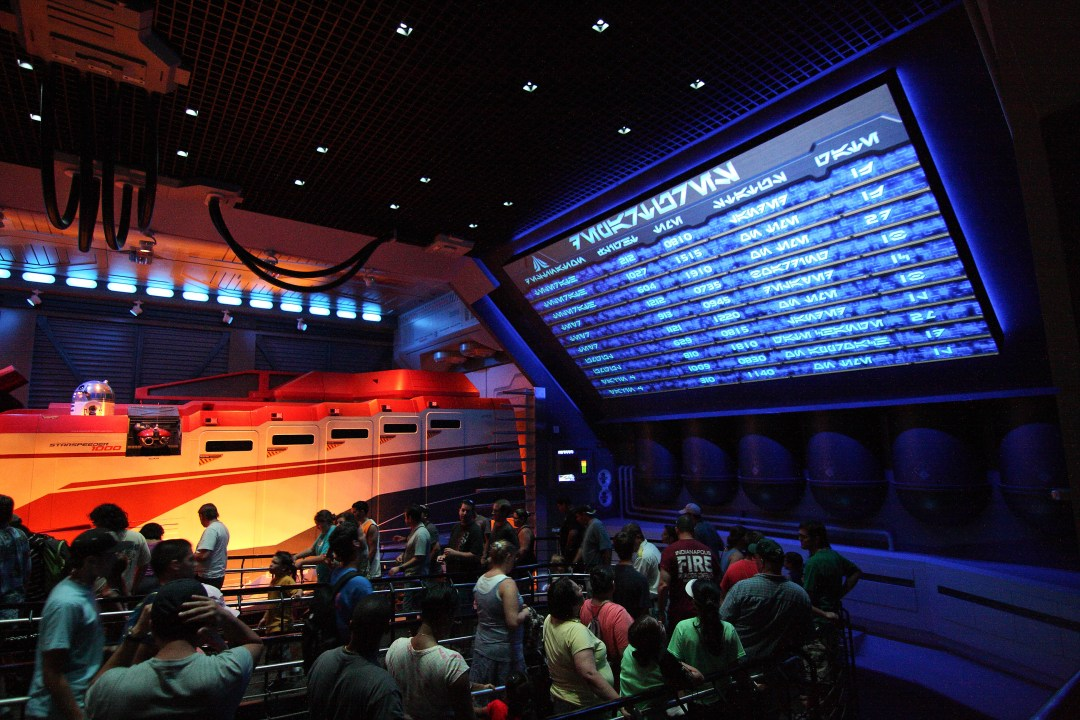 The standby line for the Star Tour ride at Disney's Hollywood Studios in Orlando.
