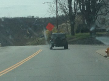 A jeep we stalked on the way to New Milford