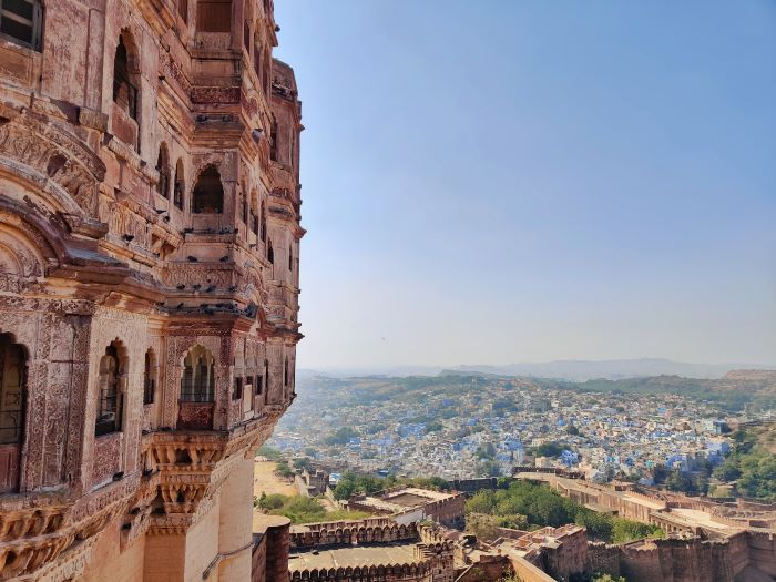 View from Mehrangar fort in Jodhpur
