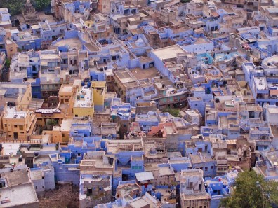 Ariel view of the blue city of Jodhpur, Rajasthan