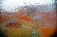 iced water on window