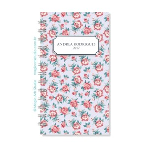 Magic Planner tamanho personal - Rosas fundo lilás