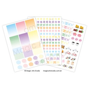 Kit adesivos candy Magic Planner A5