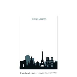 Bloco para anotações tamanho A5 - Cities - Paris