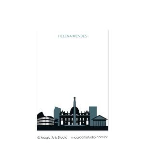 Bloco para anotações tamanho A5 - Cities - Rome