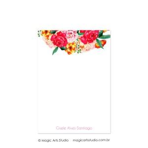 Bloco para anotações tamanho A5 - Flowers