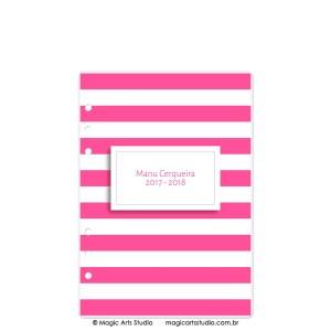 Dashboard Listras Pink - tamanho A5