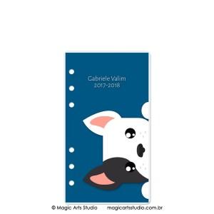 Dashboard Bulldog Fundo Azul - tamanho Personal