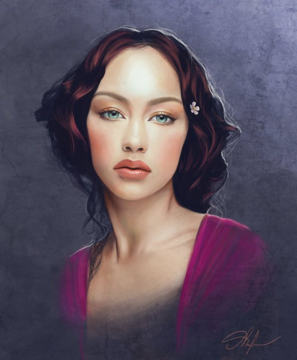 Beautiful Women Faces Painting