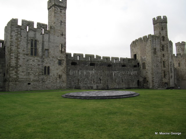 The dais where Prince Charles' investiture took place in Caernarfon Castle.