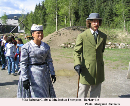 Miss Rebecca Gibbs & Mr. Joshua Thompson, Barkerville British Columbia