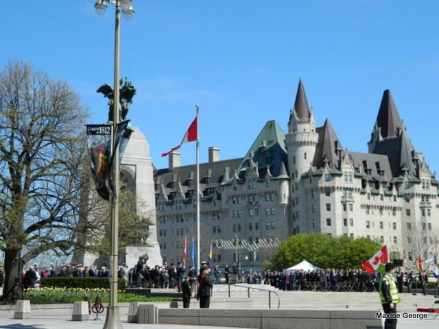Ottawa's Fairmont Chateau Laurier tulip festival