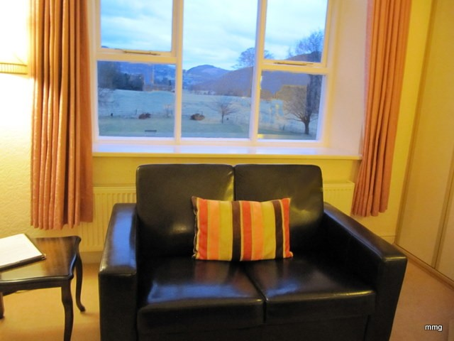 Note the view of Snowdonia National Park from my room at Dolserau Hall, Dolgellau, Wales Photo by M. Maxine George