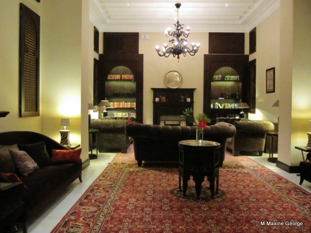 The reading room at the Old Cataract Hotel