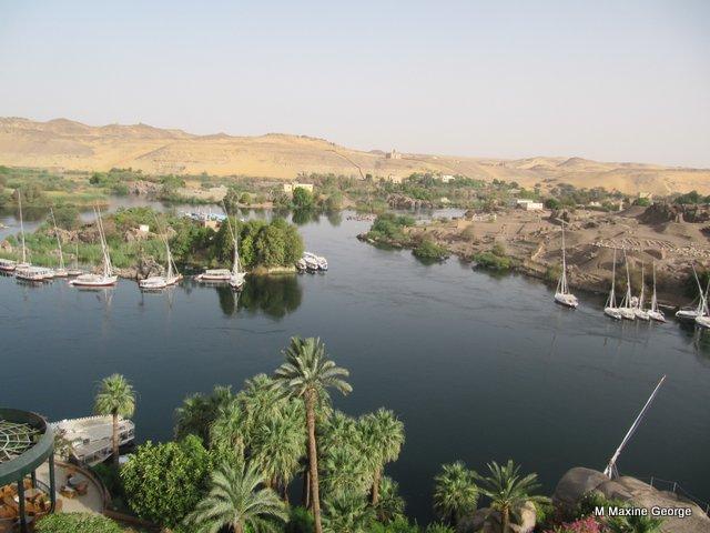 View from Cataract Hotel, Aswan