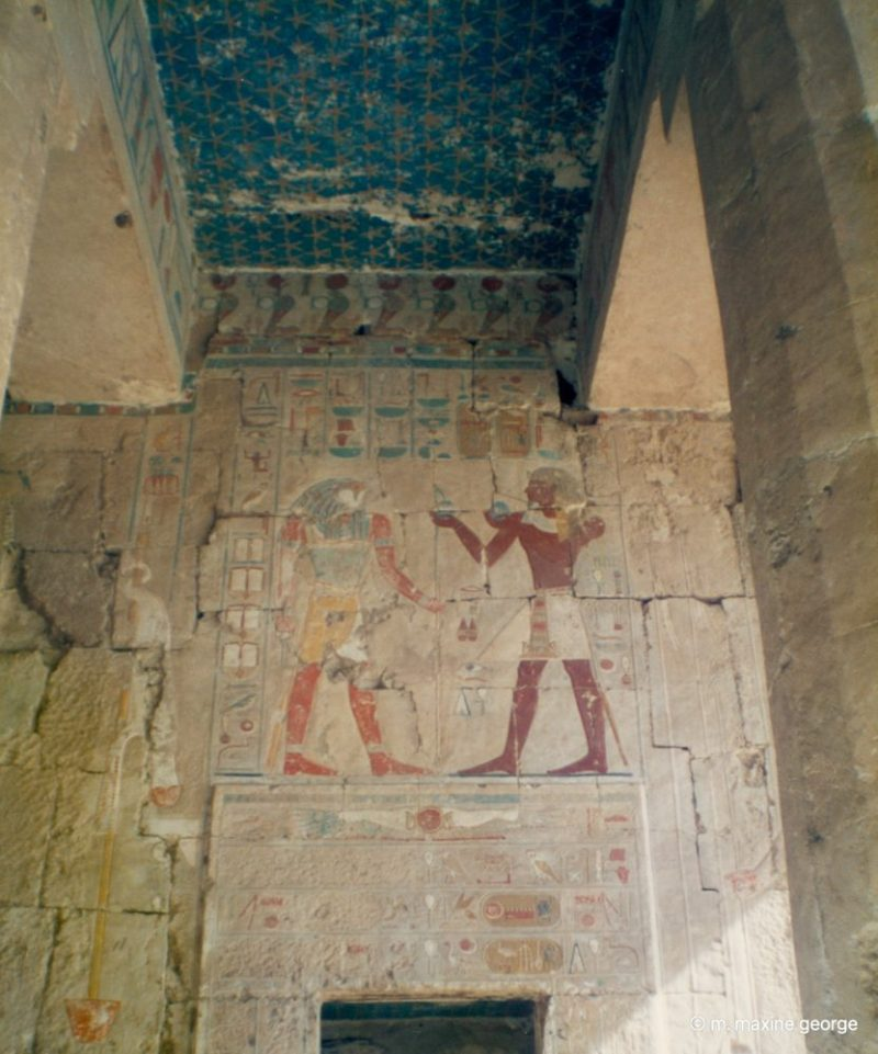 Colours still bright on wall paintings in Hatshepsut's Temple