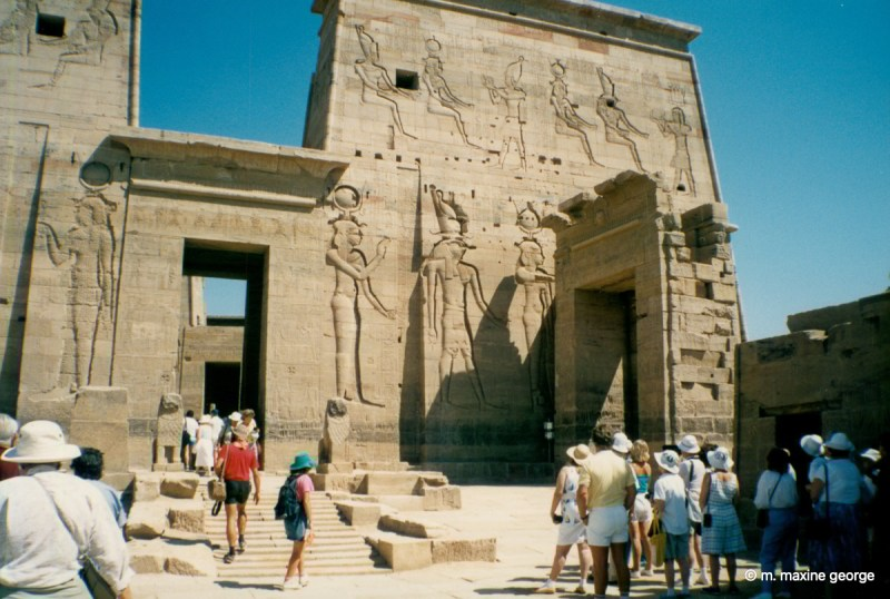 The twin pylons at the front of the Temple of Isis Philae