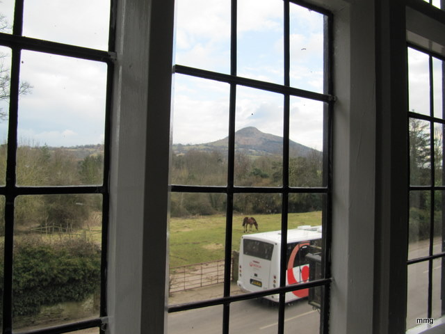View of Skirrid Mountain from Room 1 at Skirrid Mountain Inn. Photo by M. Maxine George