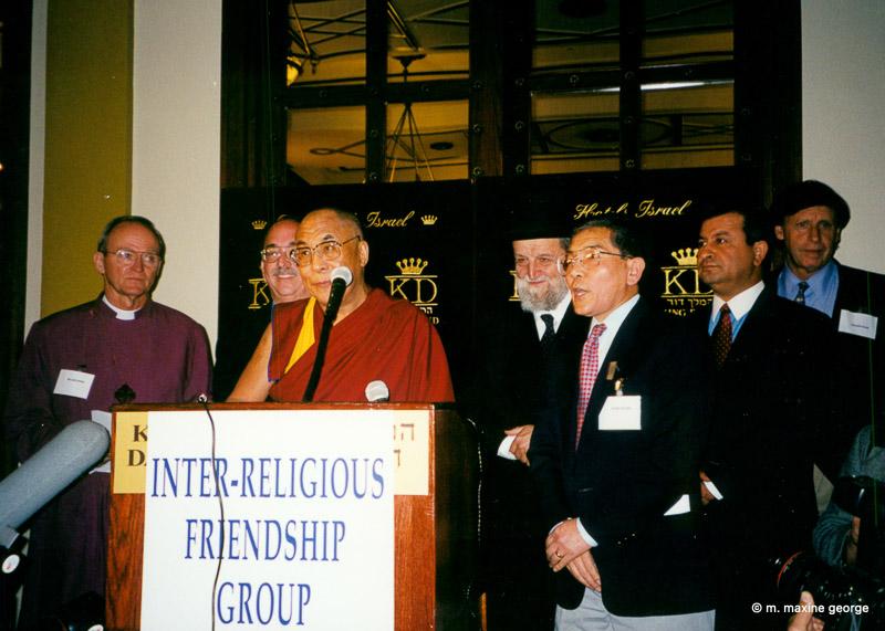 The Dalai Lama speaks at the King David Hotel, Jerusalem