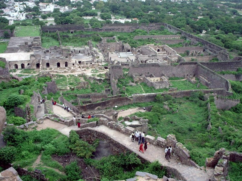 India's Golconda Fort spreads out before you.