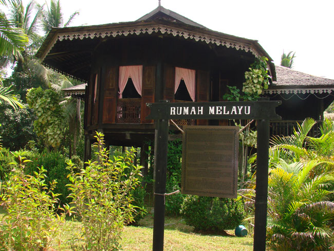 Rumah Melayu traditional Malaysian House located in Sarawak Cultural Village. Photo by M. Maxine George