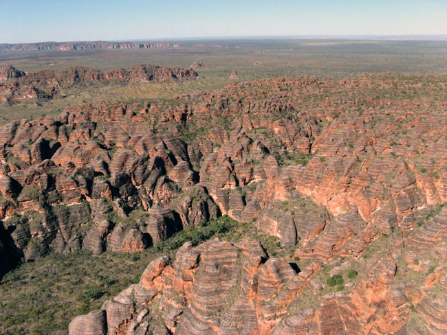 The Bungle Bungle Range from our helicopter.