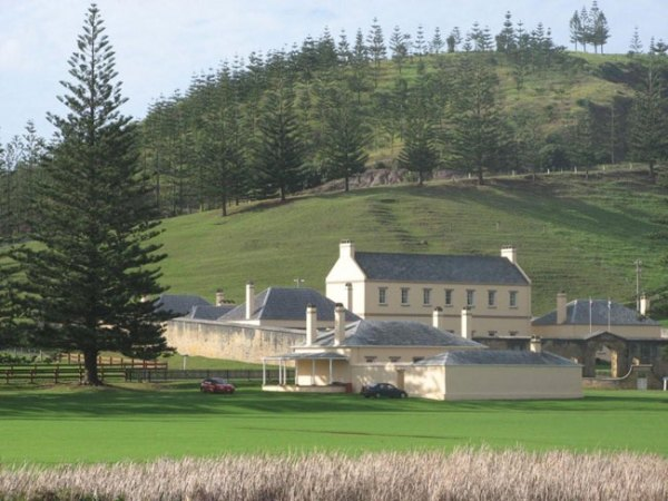 Kingston, Old Military Barracks, Norfolk Island. Picture courtesy of Barry and Heather Minton