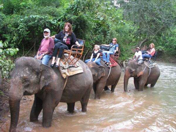 Riding an elephant is not for the timid traveller. Isan, Thailand.