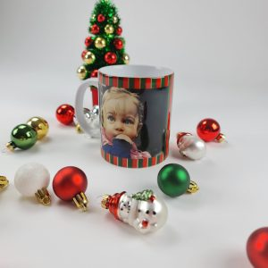 mok met kerst en foto