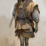 Concept art of an asian man with a hat