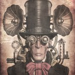 Image of a man with steampunk style