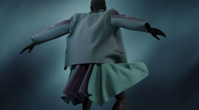 A virtualized dress by Issey Miyake