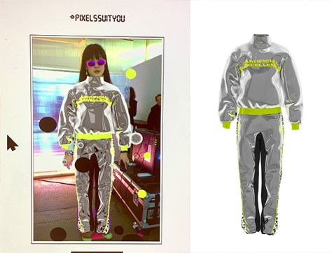 Digital fashion garments from Carlings