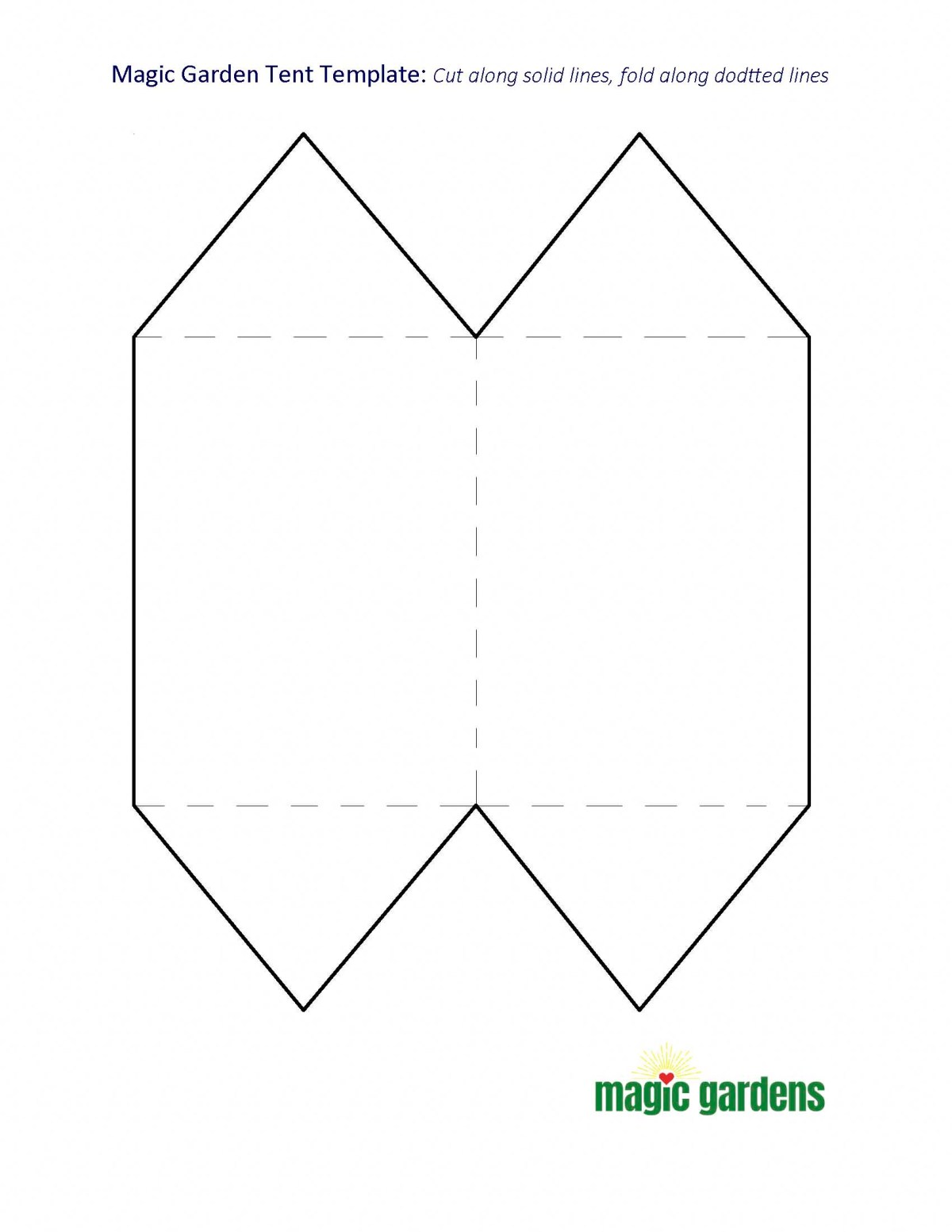 Pattern to Make A Tent