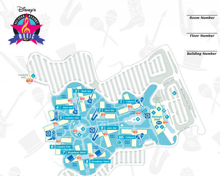 All Star Music Map