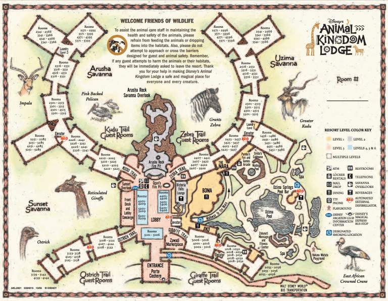 Disney's Animal Kingdom Lodge Map