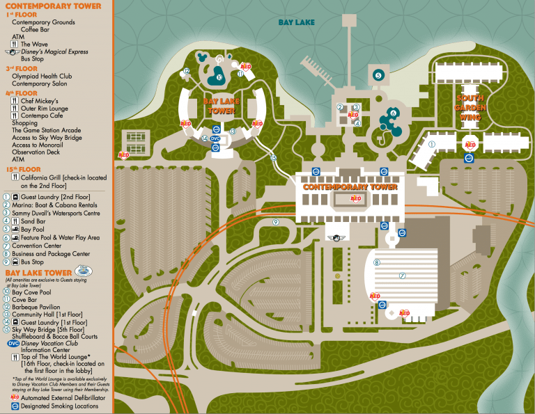 Disney's Contemporary Resort Map