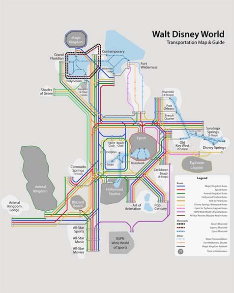 Disney World Transportation Map