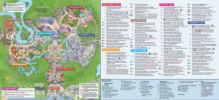 Map of Magic Kingdom Rides and Attractions