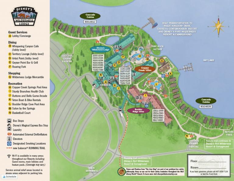Disney's Wilderness Lodge Map