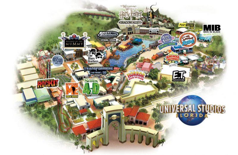 Universal Studios Orlando Map 2021 Florida Theme Park Maps