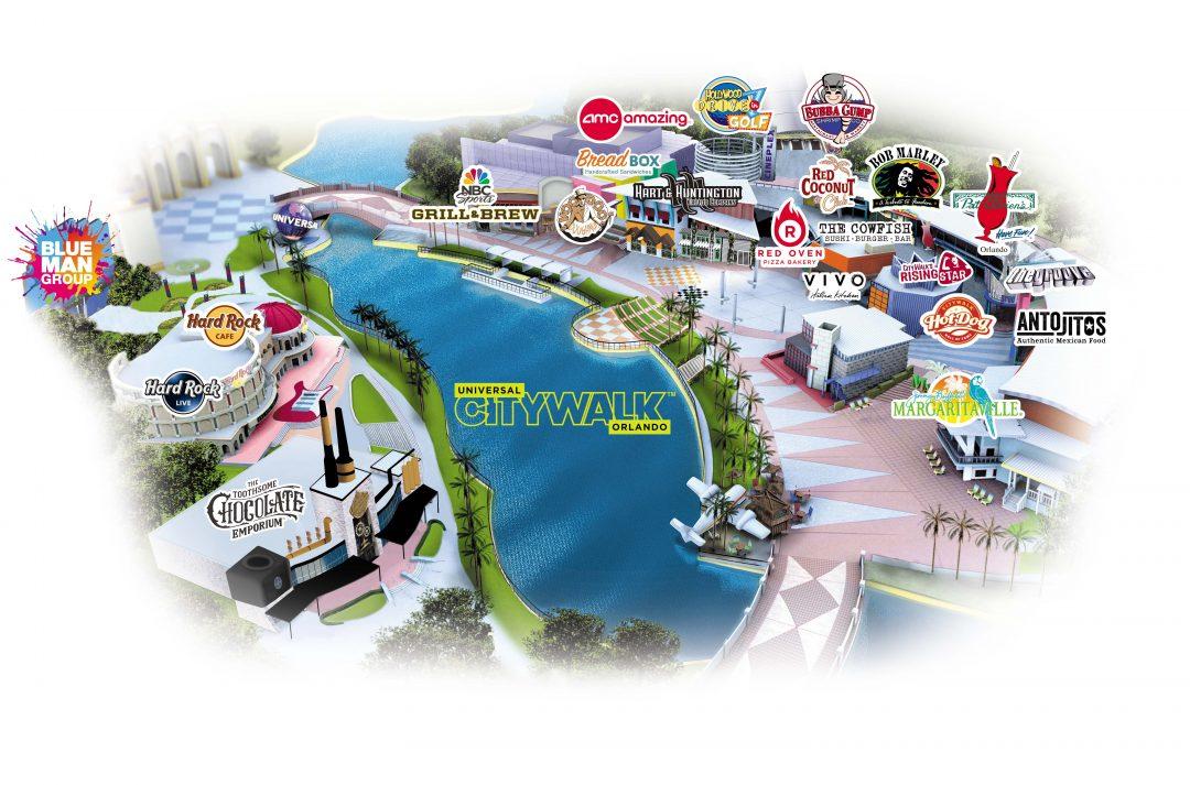 Universal CityWalk Map