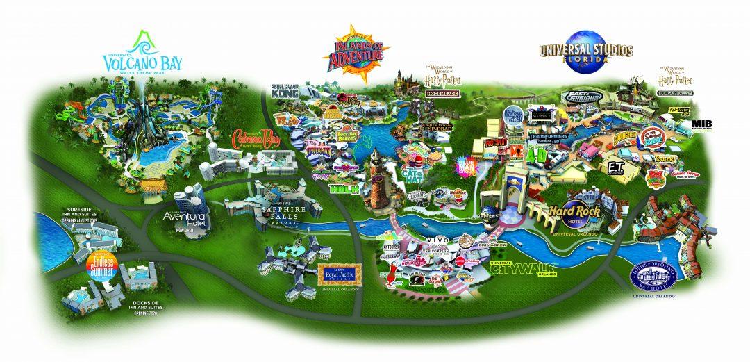 Orlando Florida Universal Studios Map Universal Studios Orlando Map [Florida Theme Park Maps]