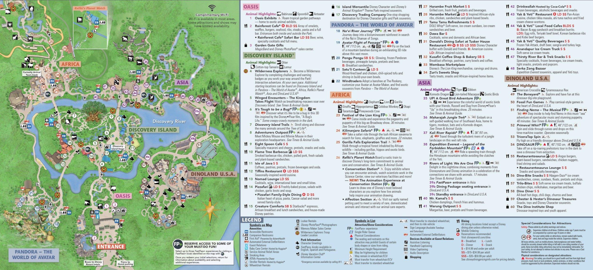 2020 Animal Kingdom Map