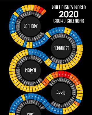 thumbnail of 2020 Snaking Design Disney World Crowd Calendar