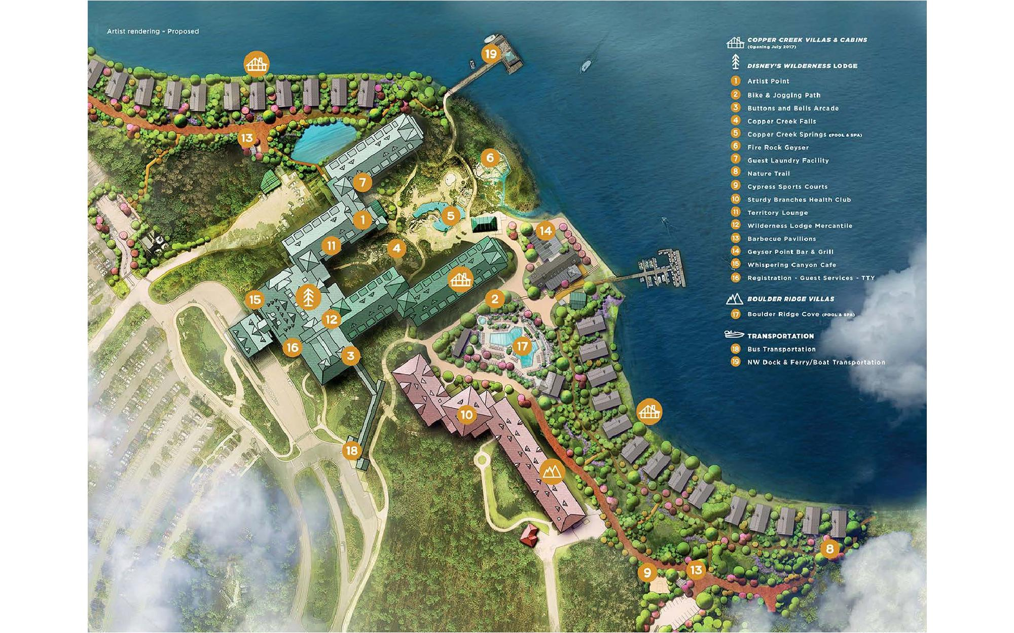 Disney's Copper Creek Resort Map