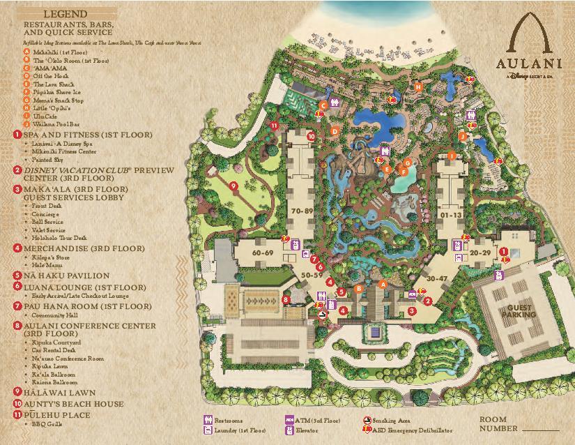 Disney's Aulani Resort Map